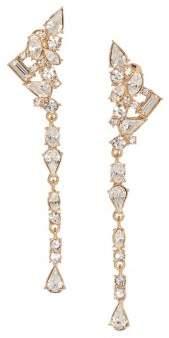 Vince Camuto Drama Goldtone & Crystal Ear Climber Linear Drop Earrings