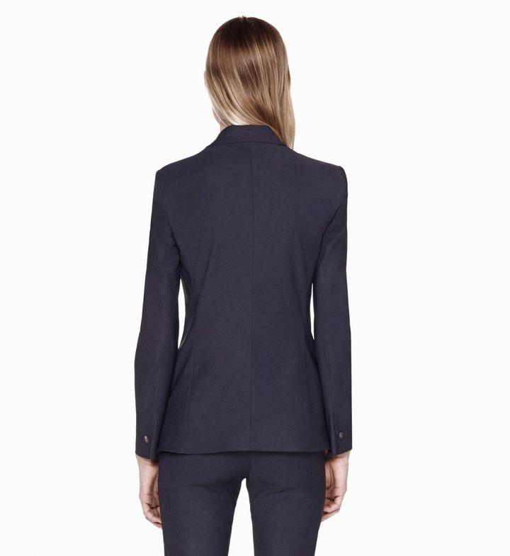 Helmut Lang Stretchy Wool Overlap Jacket