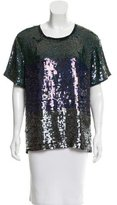 Sea Sequined Short Sleeve Top