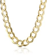 """Amazon Collection Men's 14k Yellow 8.3mm Cuban Chain Necklace, 22"""""""