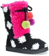 Muk Luks Jewel Faux Fur Boot (Toddler & Little Kid)