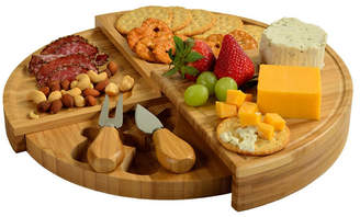 Picnic at Ascot Florence Multilevel Transforming Bamboo Cheese Board with Tools