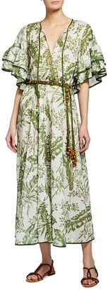 Zimmermann Empire Flutter-Sleeve Coverup Dress