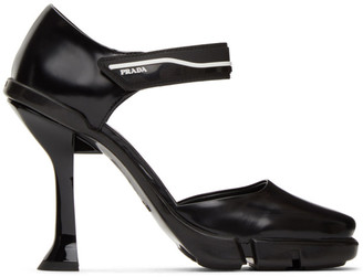 Prada Black Spazzolato Mary Jane Heels