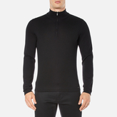 Hugo San Gottardo Quarter Zip Jumper Black