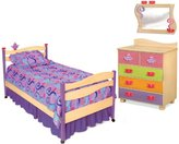 Room Magic Natural Bedroom Set, 5 Piece, Girl Teaset
