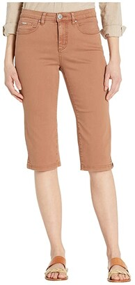 FDJ French Dressing Jeans Jeans Solid Cool Twill Olivia Pedal Pusher in Cognac (Cognac) Women's Jeans