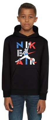 Jordan Legacy Retro 4 Hoodie Sweatshirt - Black / Military Blue Red / White
