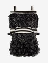 Alexander McQueen Frill Mini Dress