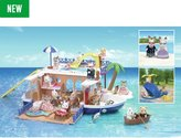 Sylvanian Families Seaside Cruiser Houseboat Value Set