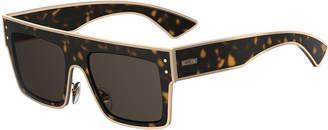 Moschino Rectangle Two-Tone Acetate Sunglasses