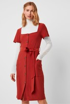 French Connection Shanika Slinky Square Neck Dress