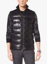 Michael Kors Leather Down Vest