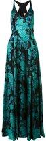 Badgley Mischka long jacquard dress