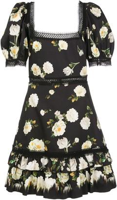 Alice + Olivia Wylie square neck mini dress