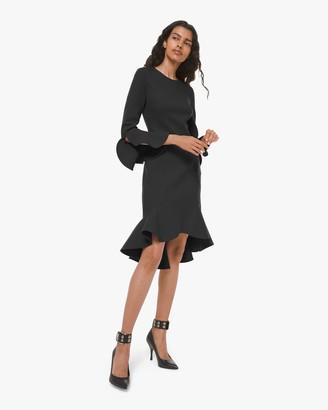 Michael Kors Flounce Sleeve Sheath Dress