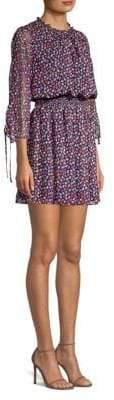 Shoshanna Arandi Silk Floral Printed Blouson Dress