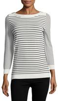 Karl Lagerfeld Striped Boatneck Sweater
