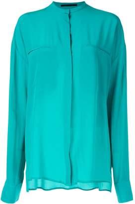 Haider Ackermann Sophora turquoise blouse