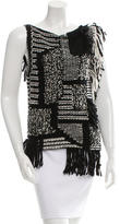 Maiyet Fringe-Trimmed Wool Top w/ Tags