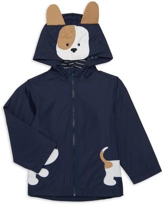 London Fog Baby Boy's Doggy Patch Rain Jacket