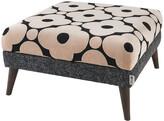 Thumbnail for your product : Orla Kiely Flynn Footstool - Shannon Charcoal/Poppy Spot Tea Rose