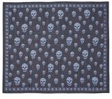 Alexander McQueen Classic skull print silk chiffon scarf
