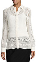 Tommy Hilfiger Lace Button-Front Shirt
