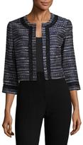 Karl Lagerfeld Cropped Tweed Jacket