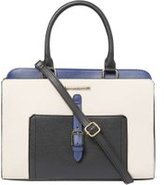 Dorothy Perkins Womens Bone and Blue Belted Tote Bag- Blue