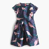 J.Crew Girls' side-gather dress in magpie print