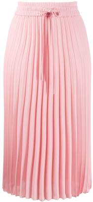 RED Valentino RED(V) drawstring waist pleated skirt