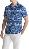 Caribbean Joe Shibori Stripe Camp Shirt - Short Sleeve (For Men)