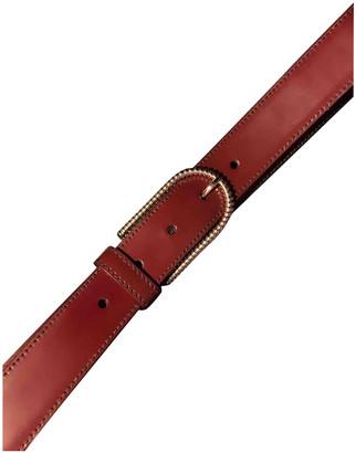 Prada Burgundy Leather Belts