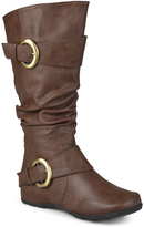 Journee Collection Brown Paris Extra Wide-Calf Boot