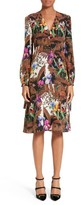 Etro Women's Jungle Print Silk Dress