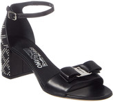 Salvatore Ferragamo Gavina Studded Vara Bow Leather Sandal