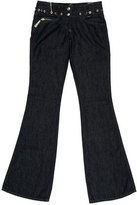 Just Cavalli Grommet-Embellished Wide-Leg Jeans w/ Tags
