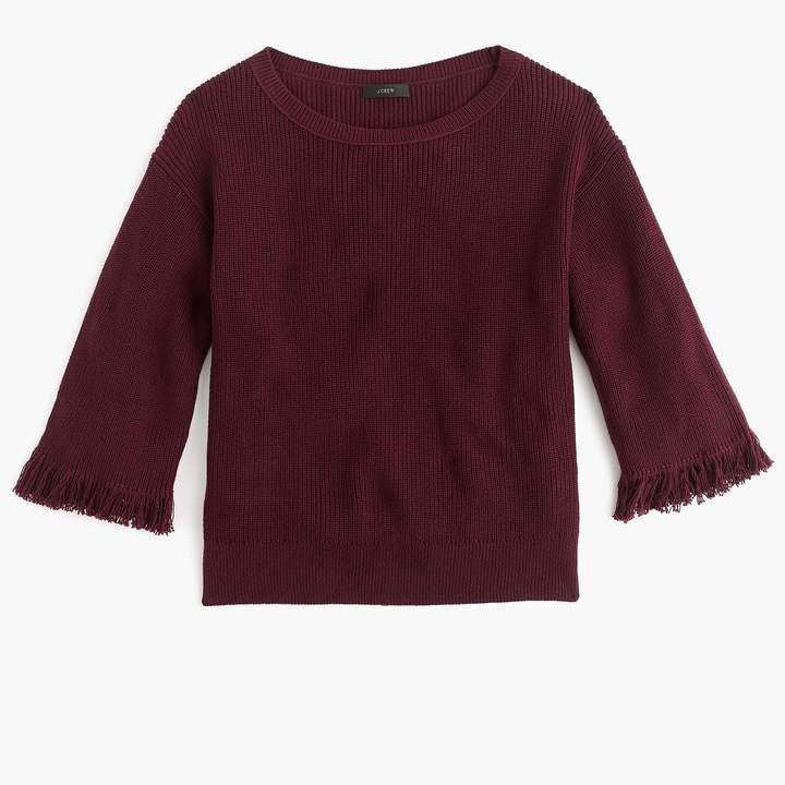 J.Crew Crewneck sweater with fringe