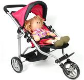 Pink Jogging Stroller for 18'' Doll