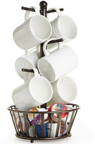 Mikasa Band & Stripe Mug Tree with Bottom Basket