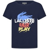 Lacoste LacosteBoys Navy Fair Play Print Top