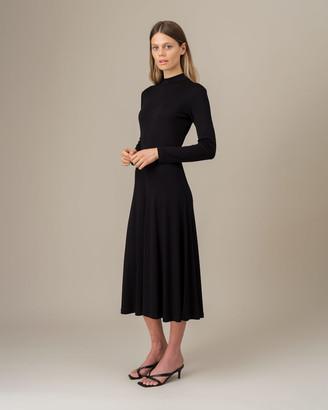 Jigsaw Mock Neck Long Sleeve Dress