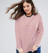 Asos Oversized Striped Long Sleeve T-Shirt