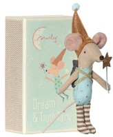 Infant Maileg Boy Tooth Fairy Mouse Stuffed Animal In Box
