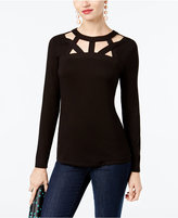 INC International Concepts Cutout Top, Created for Macy's