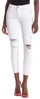 7 For All Mankind Gwenevere Destroyed Ankle Skinny Jeans