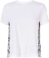Sea Pinstripe Eyelet Combo T-Shirt
