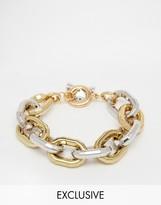 Designb London Designb Chain Bracelet In Gold/silver