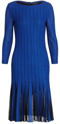St. John Perforated Knit Dress